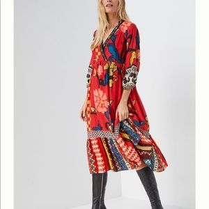 Anthropologie Cayenne Maxi Dress In BRIGHT RED 6